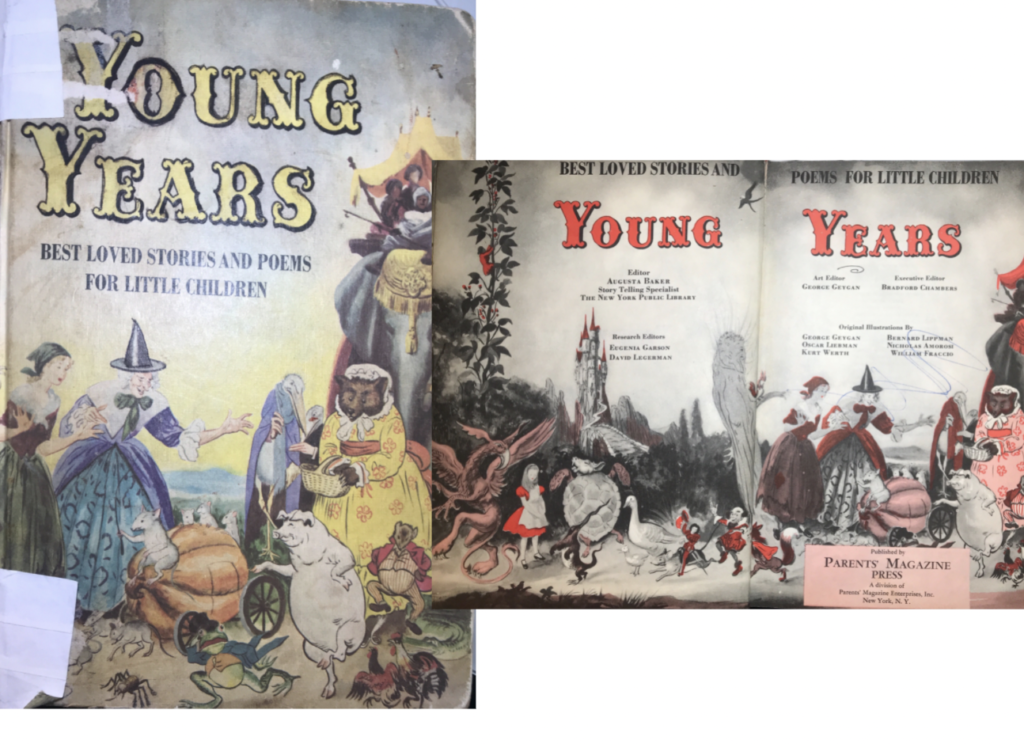 Image: cover and cover pages, Young Years, Editor Augusta Braxton Baker