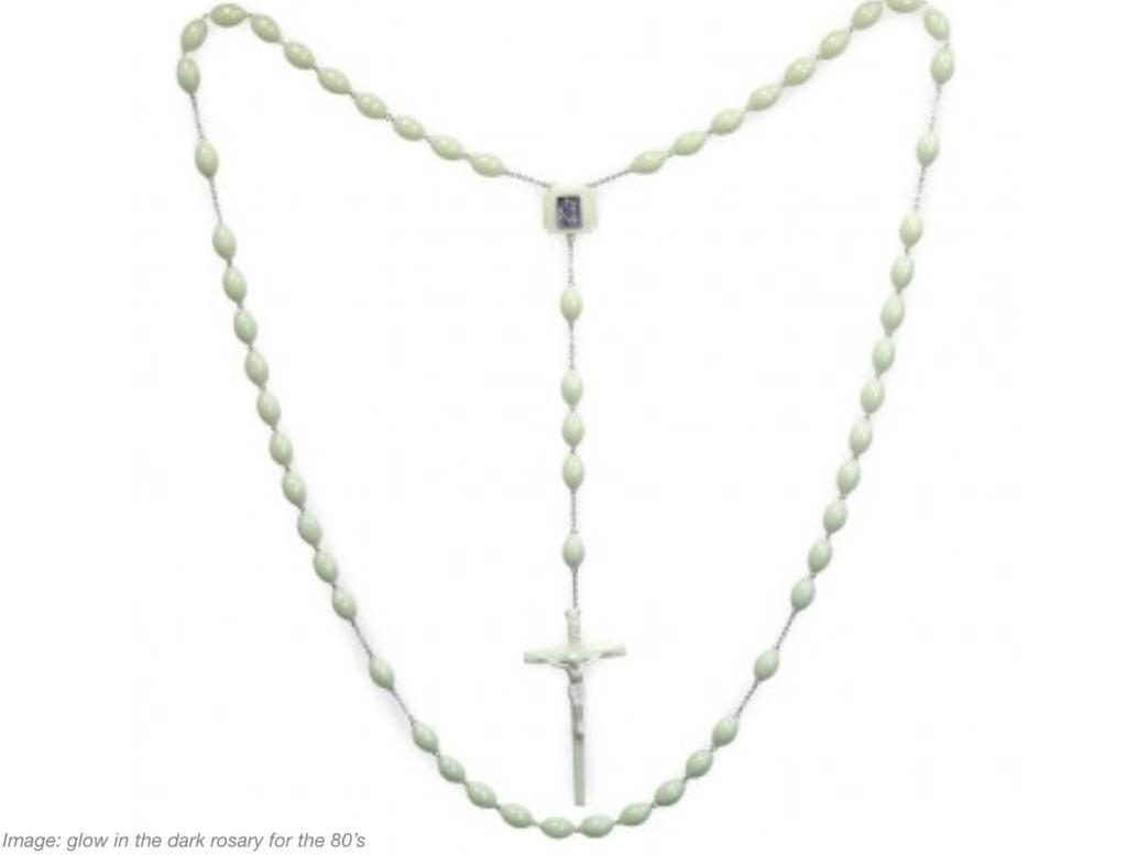 80's era glow in the dark rosary
