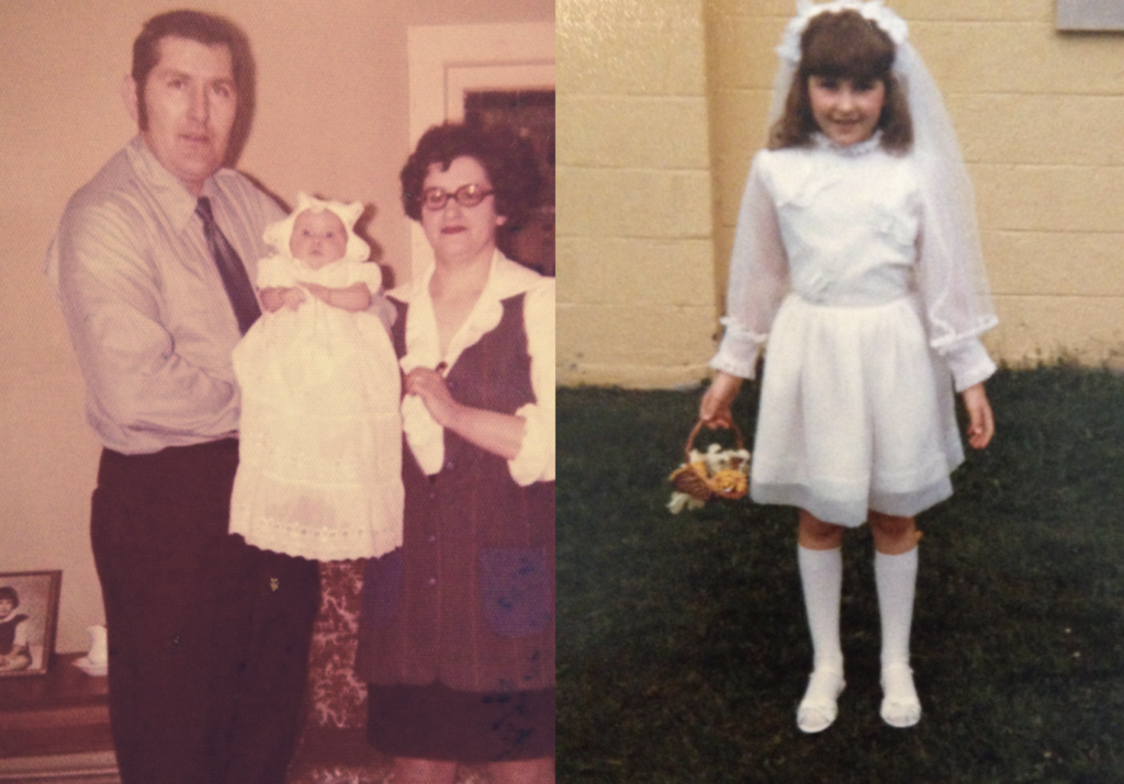 My parents at my baptism, plus my christening